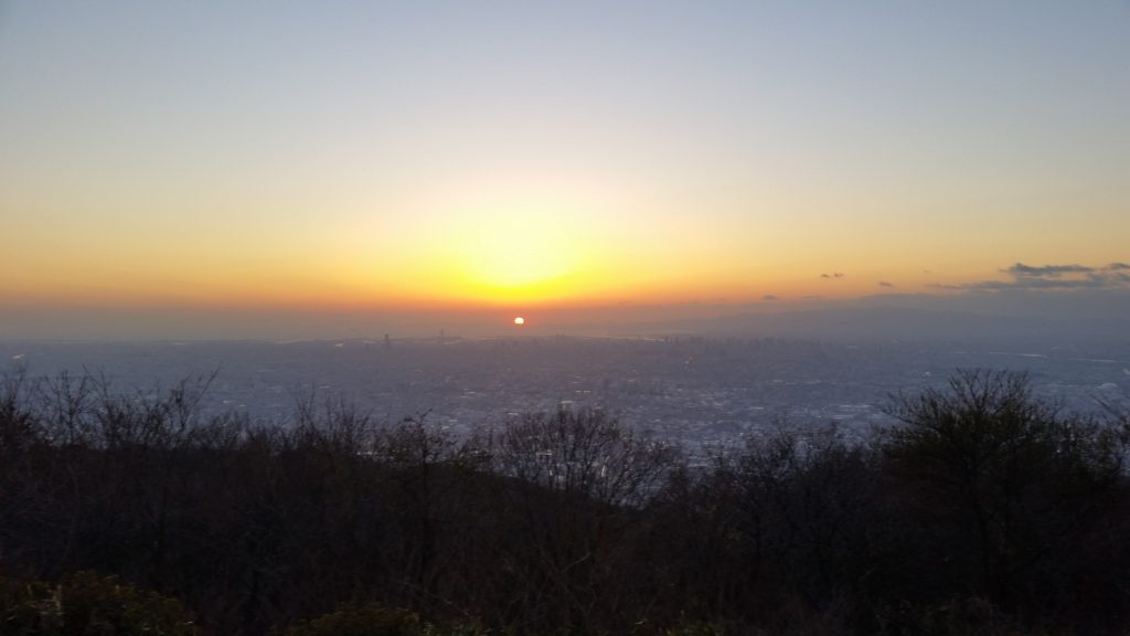 Sunset near Osaka City
