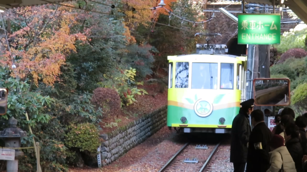 Cable car of Mount Takao.