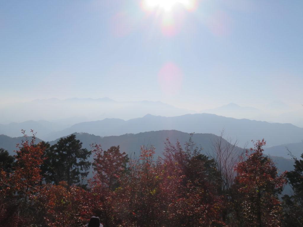 On Mount Takao.