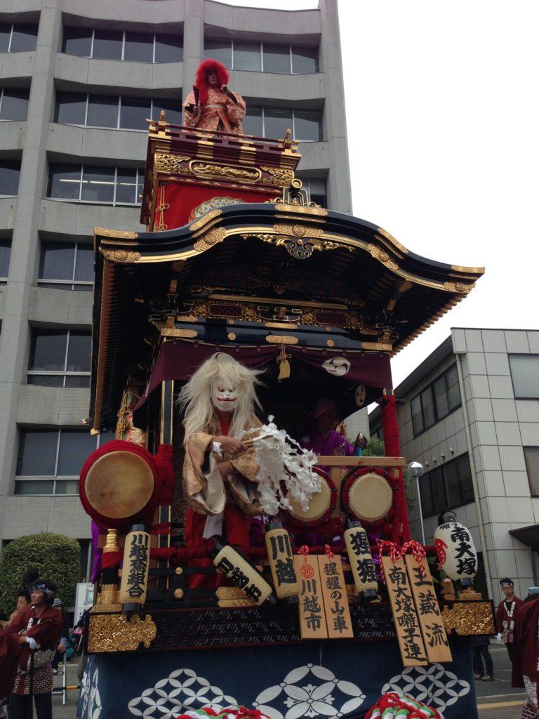 Floats during Kawagoe Festival