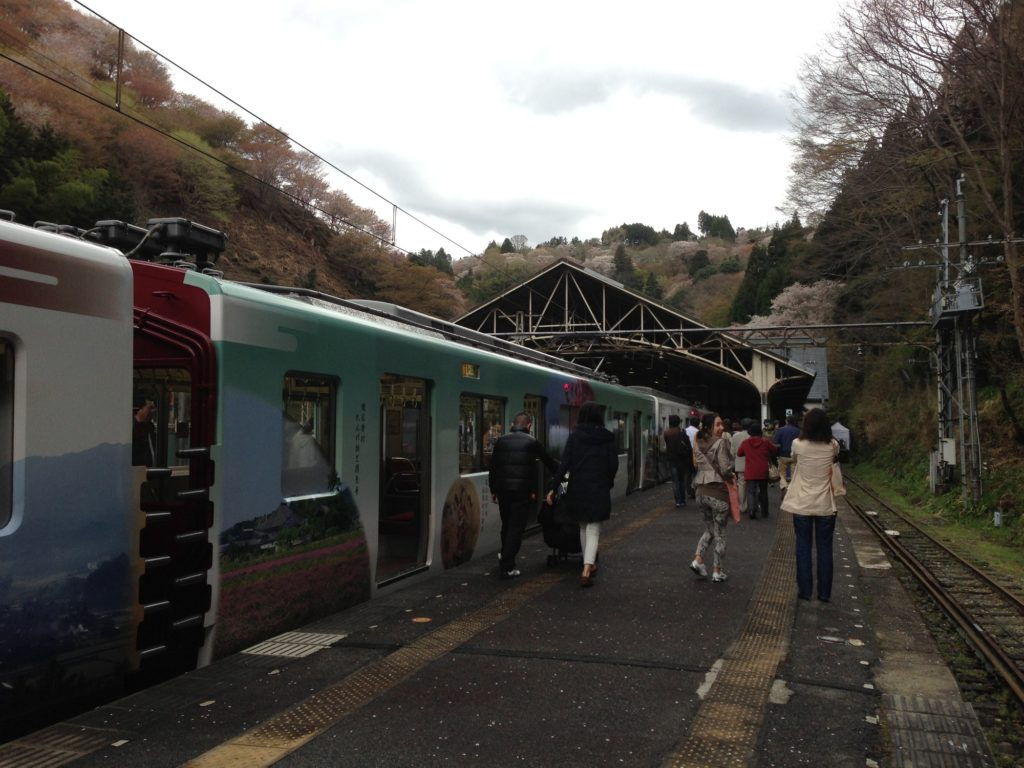 Train to Yoshino from Osaka
