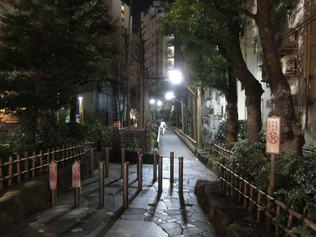Street beside the entrance of Thermae-yu