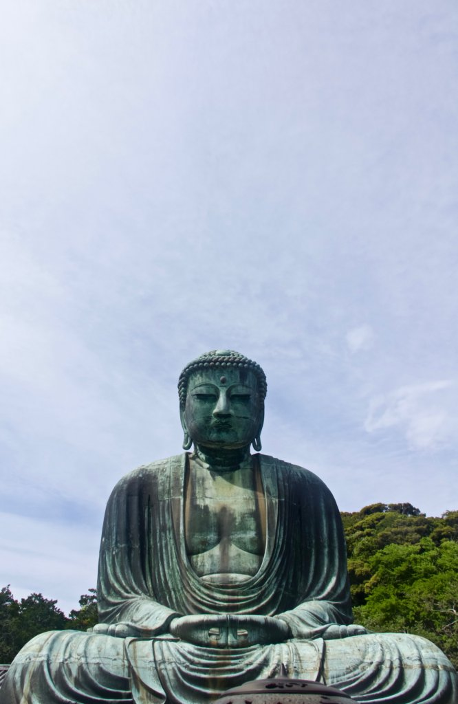 The Great Buddha of Kamakura attracts visitors from far and wide.