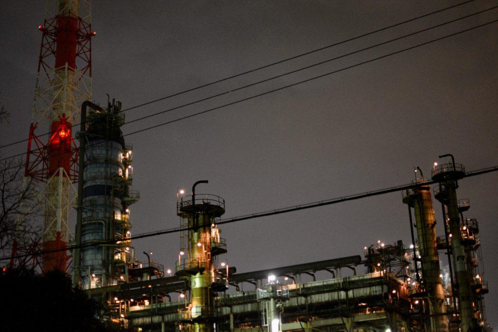 The factory grounds of Osaka's International Refining Company