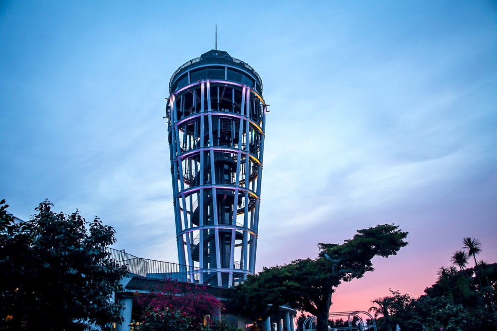 The Enoshima Sea Candle is both an observation deck and lighthouse.