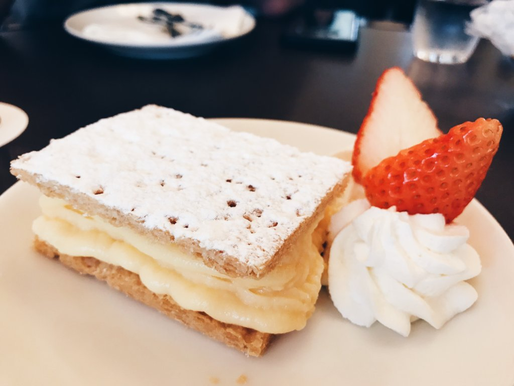 You must try the mille feuille!