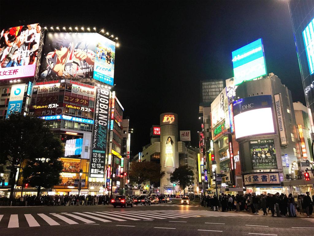 The energy of Shibuya is electric.