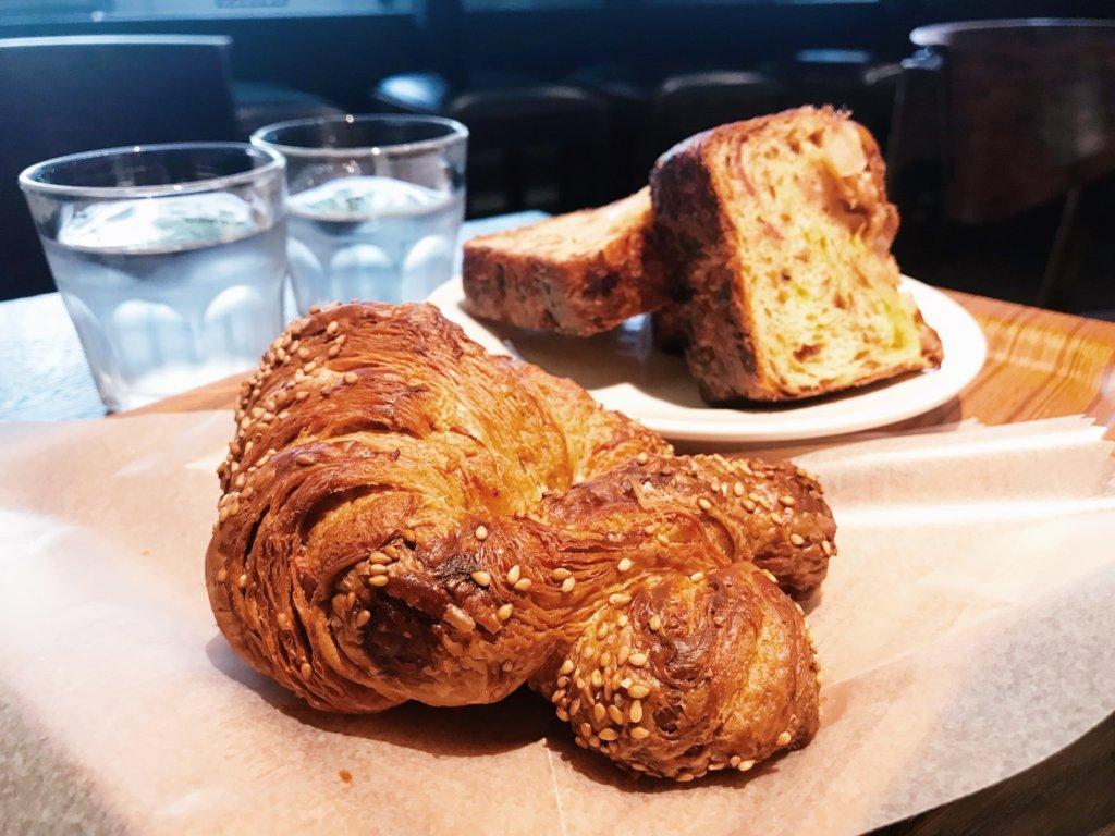The pretzel croissant and double onion bread! Crazy good.