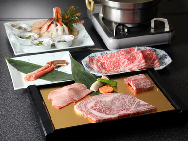 """Yuki no Utage*,"" where you can enjoy Kuroge Wagyu** beef and seafood **The Japanese Black breed of cattle *Snow Feast"