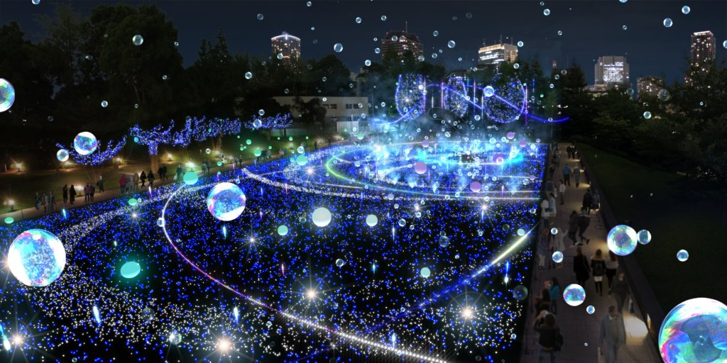Starlight Garden 2018 at Tokyo Midtown (photo by Tokyo Midtown)